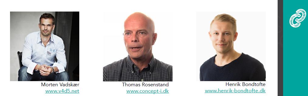 Fra venstre: Morten Vadskær, Thomas Rosenstand & Henrik Bondtofte