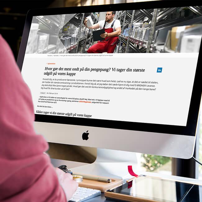 Storytelling til Gottfred Petersens hjemmeside   Falcke Digital Kommunikation