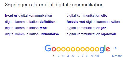 """Søgning relateret til """"digital kommunikation"""""""